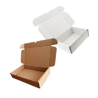 Brown & White Single Wall Die Cut Boxes C4 C5 C6